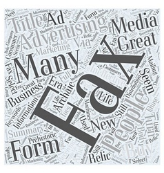 Fax advertising word cloud concept vector