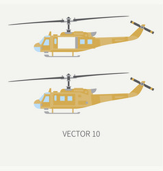 Plain flat color icon set military vector