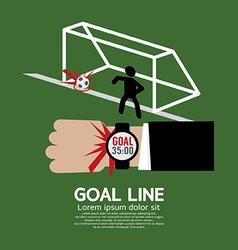 Goal Line Sport vector image