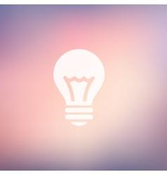Bulb idea in flat style icon vector image