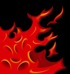 tattoo stylized flame tongues vector image
