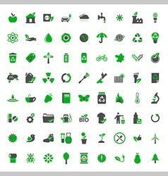 Ecology and environment icons set vector