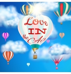 Heart shaped air balloon eps 10 vector