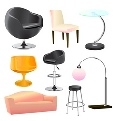 Furniture objects vector