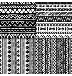 Seamless ethnic pattern set vector