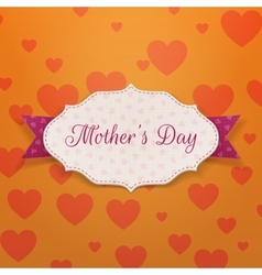 Mothers day festive card template vector