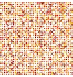 Retro abstract seamless pattern square pixel vector