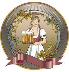 beer waitress radial vector image