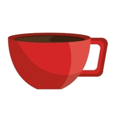 Red coffee cup isolated icon vector