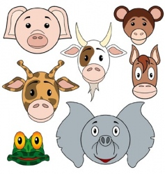 Animals baby set vector