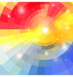 Abstract colorful background with sun vector image