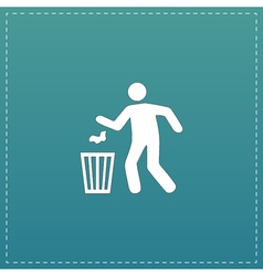 Bin symbol on background vector