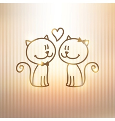 Cats couple vector