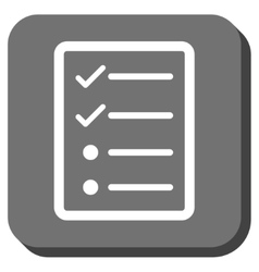 Checklist Page Rounded Square Icon vector image