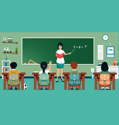 classroom math vector image vector image