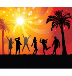 disco evening in the paradise vector image vector image