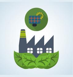 Eco design bio icon isolated green vector
