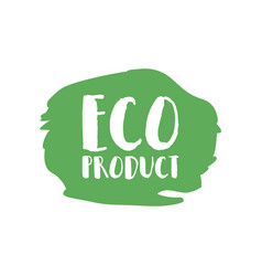 eco product badge vintage label with hand drawn vector image