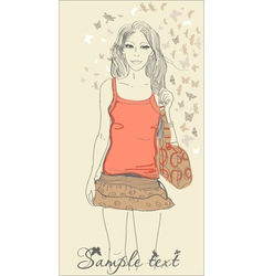 fashion sketch vector image vector image