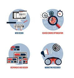 Flat icons concept vector