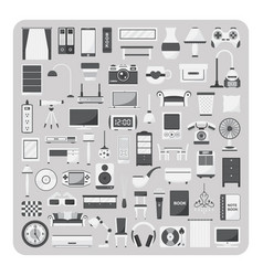 flat icons living room set vector image vector image