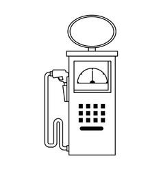 fuel station pump icon vector image vector image