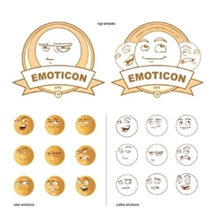 Funny emotions pack vector