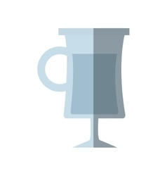 Glass cup alcohol drink shadow vector