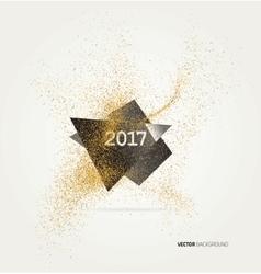 Gold glitter confetti vector