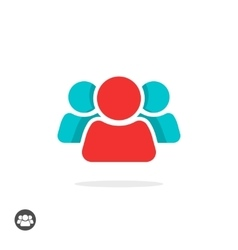 Group of three people icon isolated leader vector