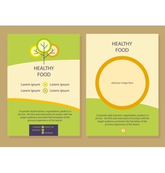 Healthy food Template flyer vector image vector image