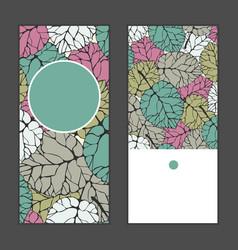 Invitation greeting cards set vector