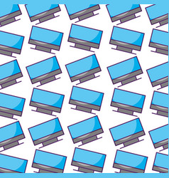 monitor computer pattern background vector image