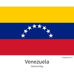National flag of venezuela with correct vector