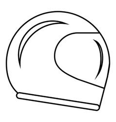 Racing helmet icon outline style vector