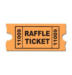 Raffle ticket vector
