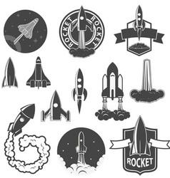 rockets2 vector image