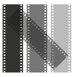 set of films pattern background vector image