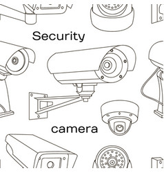 Set of security camera pattern vector