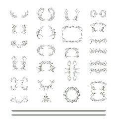 set of silver element vector image