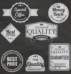 Set of vintage chalkboard bakery logo badges and vector image vector image