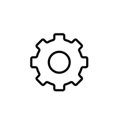thin line settings gear icon vector image vector image