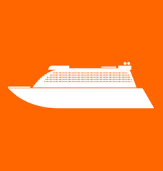 Transatlantic cruise liner white icon vector