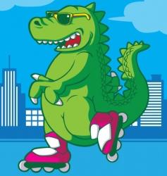 tyrannosaurus rex dinosaur vector image vector image