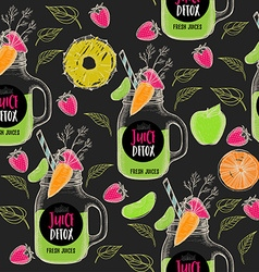 Juice seamless pattern background vector image