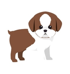 Dog pet cartoon vector