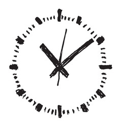 Clock handwritten2 resize vector