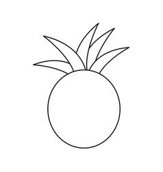 Figure pineapple fruit icon stock vector