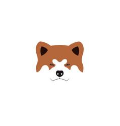 japanese akita inu dog vector image