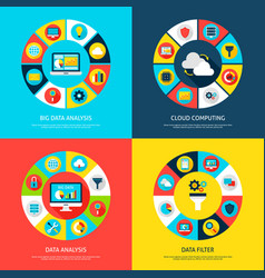 Big data concepts vector